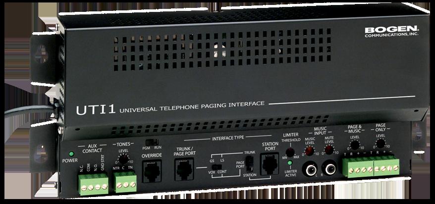 bogen uti1 universal telephone paging interface single-zone